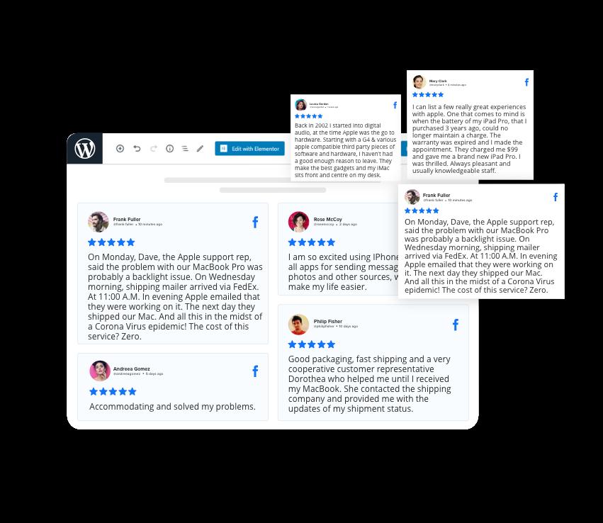 facebook reviews widget on wordpress
