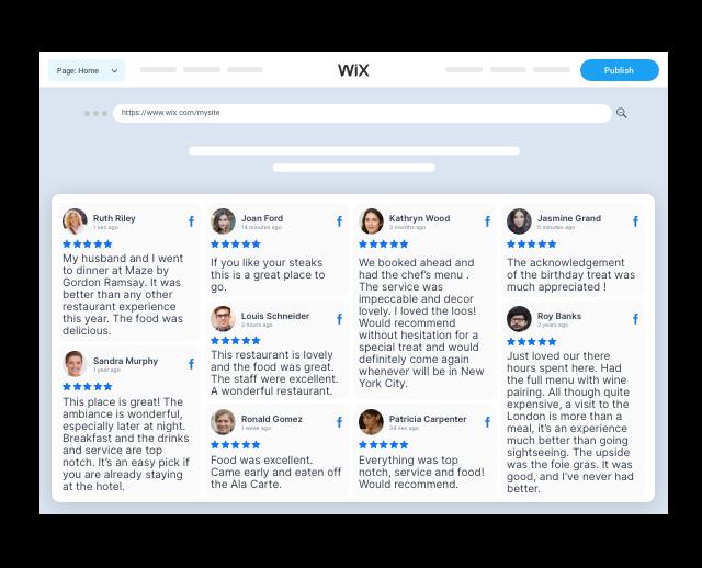 Taggbox facebook Reviews Widget On wix