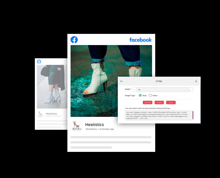 Taggbox facebook widget on html