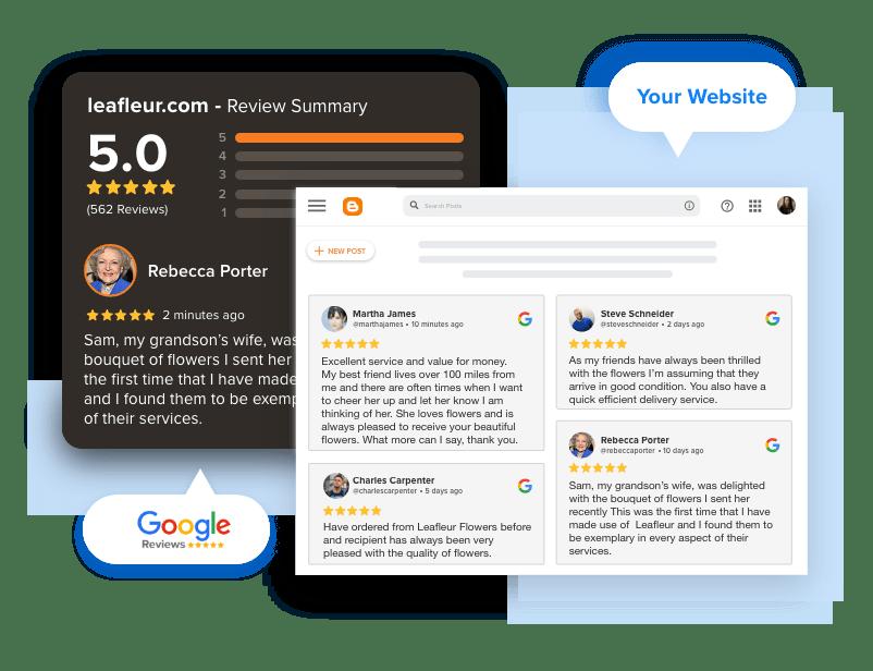 google Reviews widget on blogger