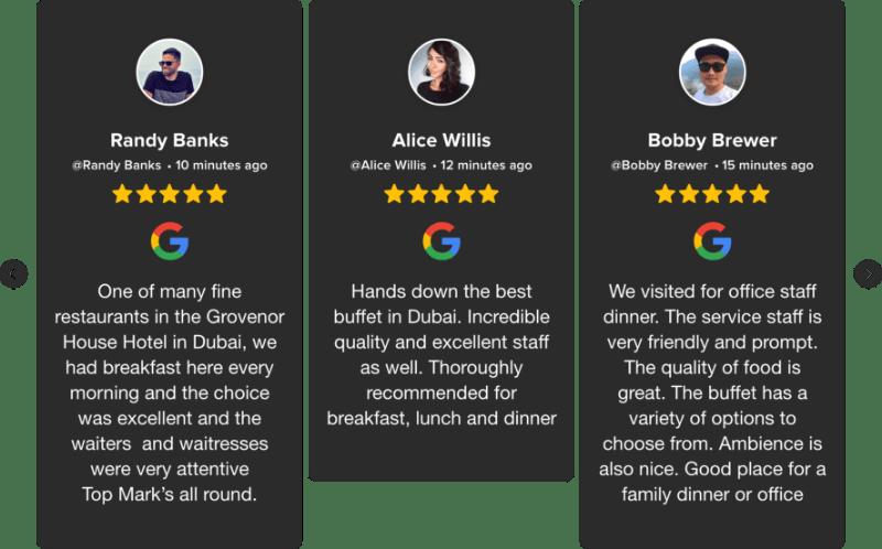 embed google reviews widget on website