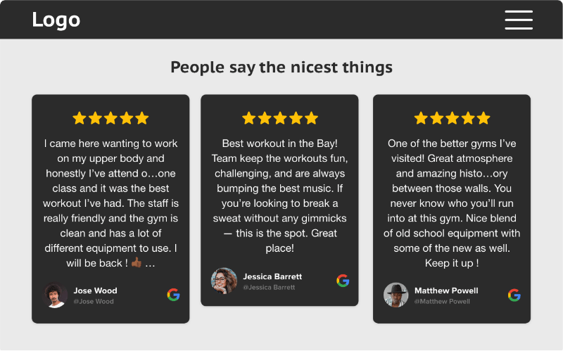 embed google review