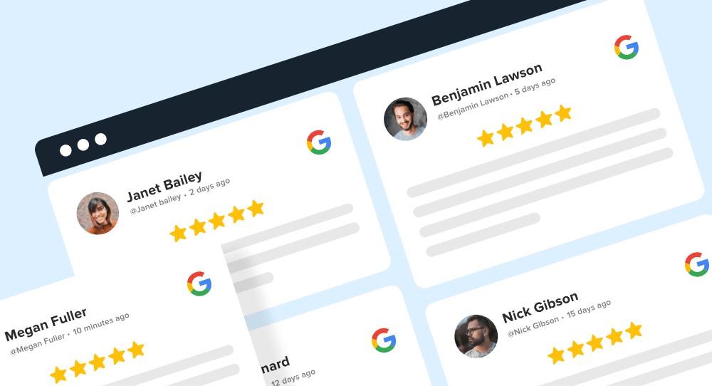 google business reviews widget