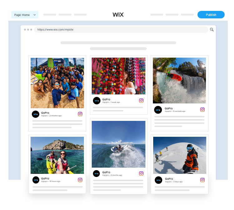 Embed instagram widget On Wix