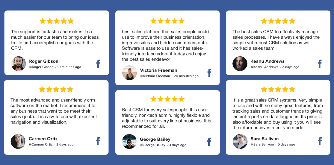 Facebook reviews widget