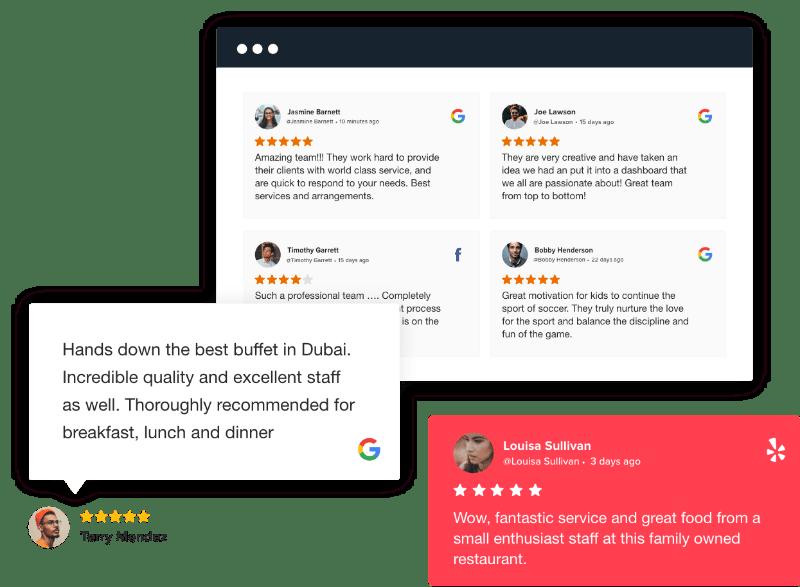 Reviews widget on website