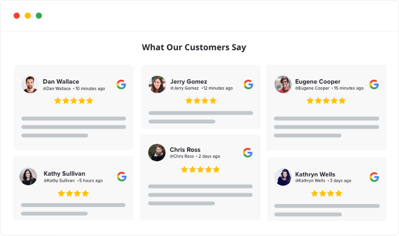 Reviews Widget for website