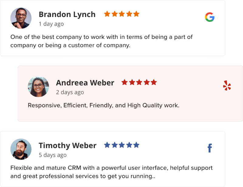 review widget for website