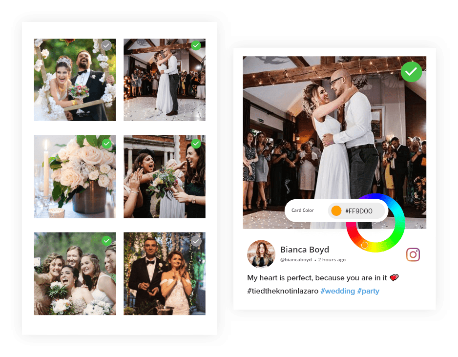 Moderate & Customize Your Wedding Feed