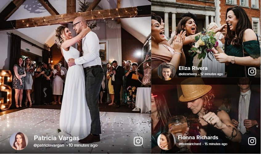Display Your Social Media Wall For Wedding