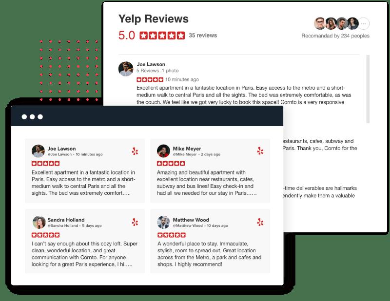 Yelp Reviews Widget